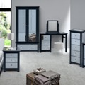 Ayr Carbon Mirrored Bedroom Furniture