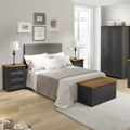 Corona Carbon Grey Bedroom Furniture