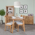 Hamilton Oak Dining & Living Room Furniture (American Oak)