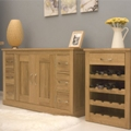 Mobel oak Dining / Living Room Furniture (Contemporary Oak)