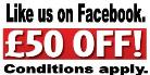 Facebook like £50 Off