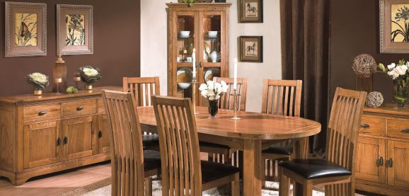 Celeste Oak Dining Living