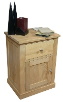 Mobel oak 1 door, 1 drawer lamp table