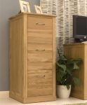 Mobel Oak Home office 3 drawer filing cabinet.
