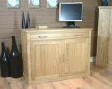 Mobel Oak Hidden home office oak desk.