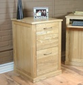 Mobel Oak Home office 2 drawer oak filing cabinet. (Clearance)