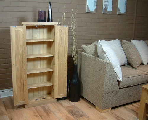 mobel solid oak console. Mobel Oak DVD Storage Cupboard Solid Console