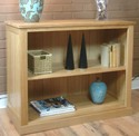 Mobel Oak Low oak bookcase