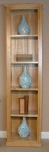Mobel Oak narrow bookcase