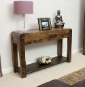 Shiro Walnut Console Table.