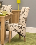 Mobel Oak Upholstered Dining Chairs (Pack Of Two)