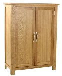 Classic oak 2 door cupboard