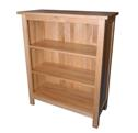 Classic oak low bookcase
