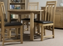 Classic Oak Round Dining Table with 4 Denver Chairs