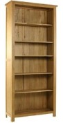 Classic oak large tall bookcase