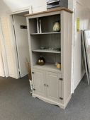 Corona Grey Washed Large 2 Door Bookcase (Clearance)