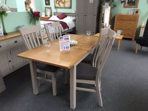 Kenmore Grey Painted Oak Extending Dining Set (Clearance)