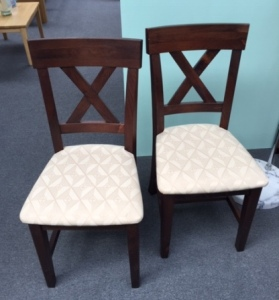 Dark Pine 2 x Paris Dining Chairs (Clearance)
