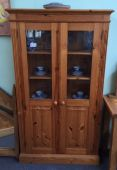 Roman Pine 4 shelf Glazed Cabinet (Used)