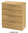 Sherwood 4 Drawer Chest (Clearance)