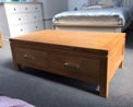 Clearance Oak Coffee Table with Drawers (Used)