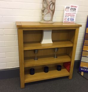 Valewood City Oak Low Bookcase (Clearance)