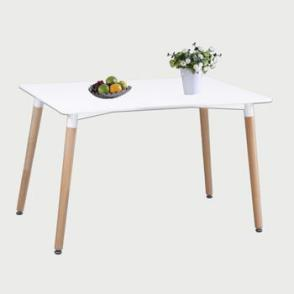 Aspen Rectangular White Painted 120cm Table Top With Beech Leg