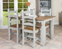 Corona Grey Rectangular Dining Table with 4 Chairs