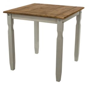 Corona Grey Washed Square Dining Table