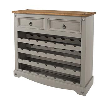 Corona Grey Washed Wine Rack