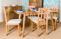 Hamilton Rectangular ExtendingTable with Twin Slat Back Chairs