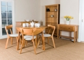 Hamilton Round Drop Leaf Table with 4 x Curved Back Chairs