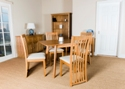 Hamilton Square Extending Table 4 Slat Back Chairs
