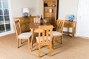 Hamilton Square Extending Table with 4 x Twin Slat Back Chairs