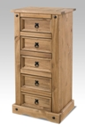 Corona Mexican 5 drawer narrow chest