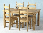 Corona Mexican 5` table & 4 chairs