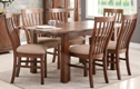Driftwood Reclaimed Pine Small Extending Dining Table Set