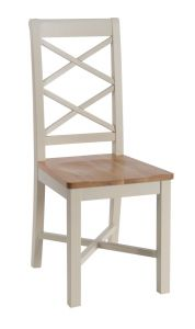 Eaton Painted 2 x Coss Back dining Chairs - Oak Seats