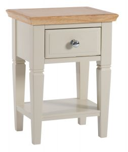 Eaton Oak and Painted Side Table