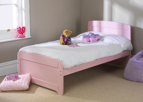 Childrens Rainbow 3' Bed Pink