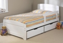 Childrens Rainbow 3' Bed White