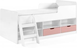Jasper Low Sleeper Bed - Pink Gloss