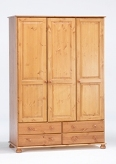 Richmond Pine triple wardrobe