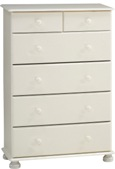 Richmond White 4+2 deep drawer chest