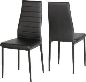 2 x Abbey Chairs - Black (sold in pairs only)