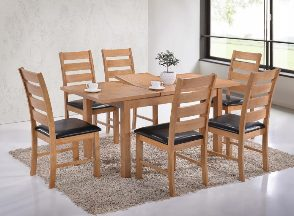 Chertsey Oak Large Extending Dining Set