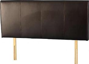 Palermo 5'0 Headboard (Brown Faux Leather)