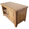 Madrid Rustic Oak 1 Door TV Cabinet