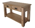 Madrid Rustic Oak 2 Drawer Hall Table