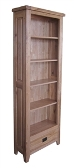 Madrid Rustic Oak High Bookcase